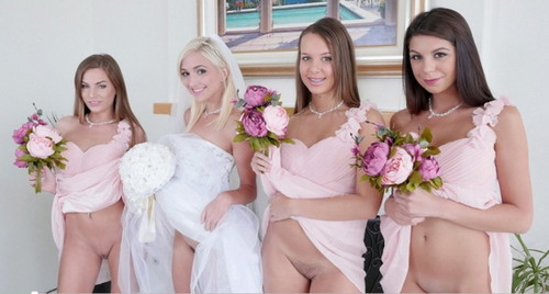 Bridemaids fuck together