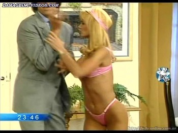 Paula Martinez fit body in pink lingerie