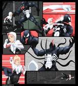 Nyte Spider Gwen vs Venom Spiderman