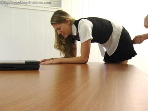 Monica: School Girl Paddling And Corner Time - image4