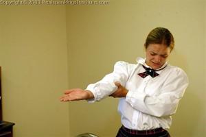 Jennifer Gets Her Hands And Bottom Spanked - image5