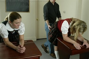 Jennifer And April Are Spanked By The Dean - image6