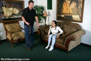 Kenzie Is Interviewed And Spanked With The Belt - image4