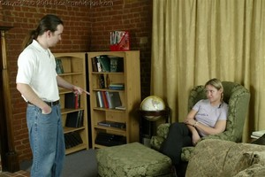 Jennifer & April: Late & Spanked - image6