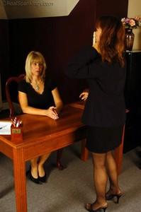 Cindy Bends Over Ms. Burns Desk - image3