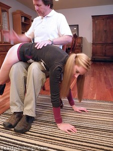 Chloe Spanked OTK, Over The Knee - image4
