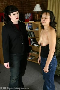Cindy's Bare Breasted Spanking - image5
