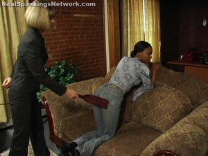 Janelle Receives The Strap - image3