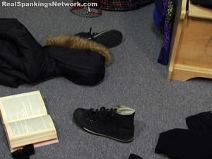 Isabel's OTK Dorm Room Spanking - image1