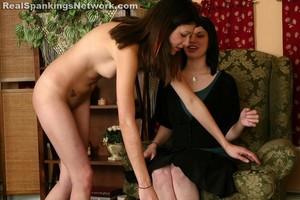 Naked OTK Hand Spanking - image1