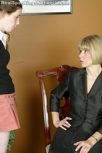 Ms. Burns Gives Bailey A Hand-spanking - image2
