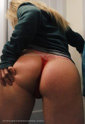 Dirty panty from busty blonde milf
