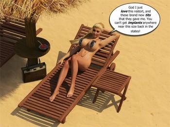 MrPhoenyxx - Beach Bikini Blow Up Doll